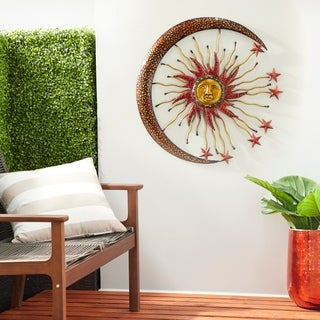 Metal Sun Moon Wall Decor