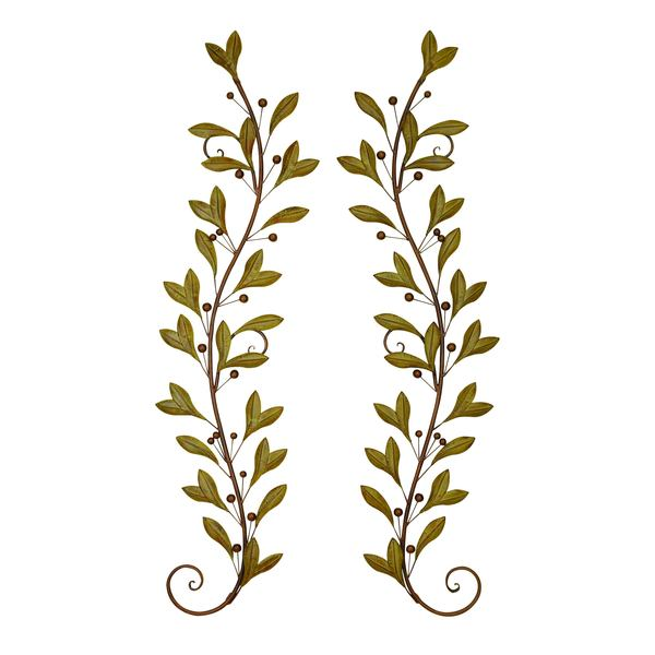 Leaves Metal Wall Decor Set Of 2 Free Shipping Today Overstock