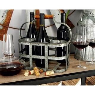Simple Style Metal Wine Holder
