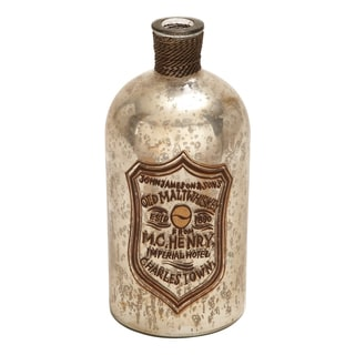 Unique Glass Home Accent Bottle