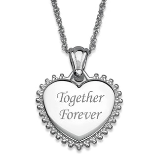 Silver Plated Sunburst Framed Heart Necklace