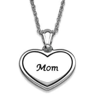 Silver Plated 'Mom' Heart Necklace|https://ak1.ostkcdn.com/images/products/8641049/Silver-Plated-Mom-Heart-Necklace-P15903575.jpg?impolicy=medium