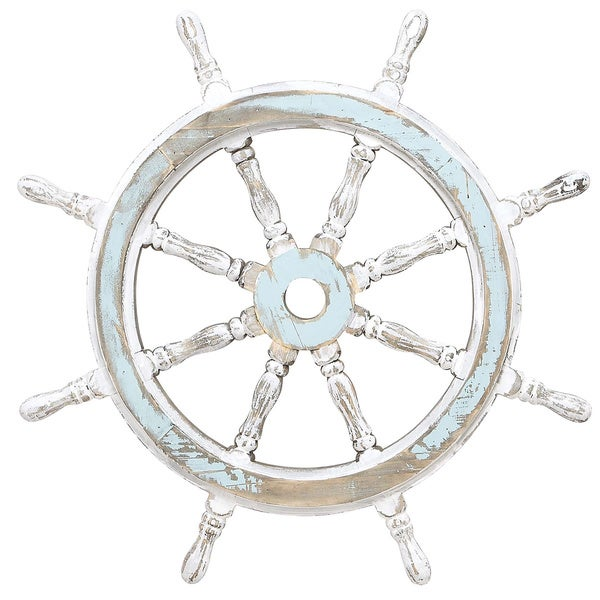 Well known Nautical Decor Wood Ship Wheel - Free Shipping Today - Overstock  UB99