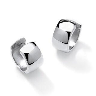 Sterling Silver Leverback Hoop Earrings