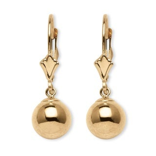 PalmBeach Ball Drop Earrings in 14k Gold Tailored