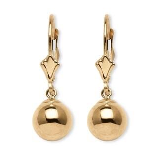 Ball Drop Earrings in 14k Gold Tailored