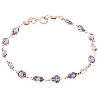 Link to 14k Yellow Gold Purple Amethyst Bracelet Similar Items in Bracelets