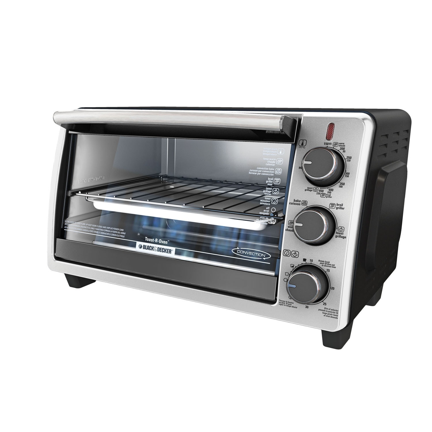Black & Decker Stainless Steel (Silver) Convection Counte...