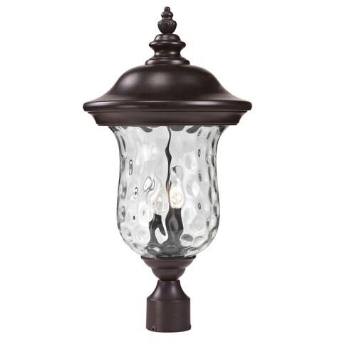 Avery Home Lighting Water Glass Outdoor Post Light - bronze