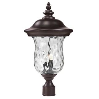 Z-Lite Water Glass Outdoor Post Light - bronze