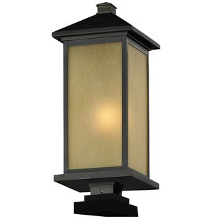 Z-Lite Tinted Seedy Glass Outdoor Post Light