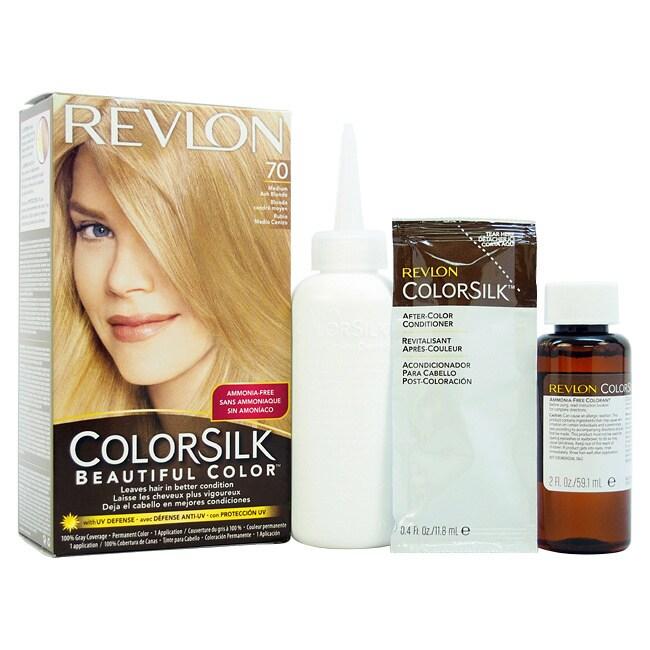 Revlon Colorsilk Hair Color 70 Medium Ash Blonde (Yellow) 7A