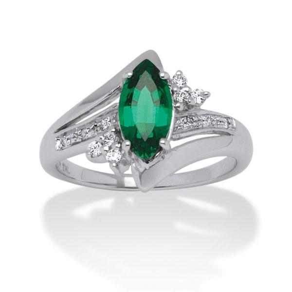 1 52 tcw marquise cut emerald ring in platinum