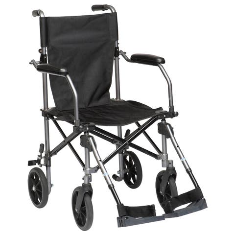 Drive Medical Travelite Chair in a Bag Transport Wheelchair - Black