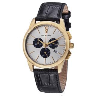 Azzaro Men's AZ2040.63SB.000 'Legend' Silver Dial Black Strap Chronograph Quartz Watch|https://ak1.ostkcdn.com/images/products/8642557/Azzaro-Mens-AZ2040.63SB.000-Legend-Silver-Dial-Black-Strap-Chronograph-Quartz-Watch-P15904770.jpg?impolicy=medium