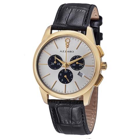 Azzaro Men's AZ2040.63SB.000 'Legend' Silver Dial Black Strap Chronograph Quartz Watch