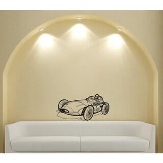 Roadster Formula 1 Sports Car Racer Design Vinyl Wall Art Decal