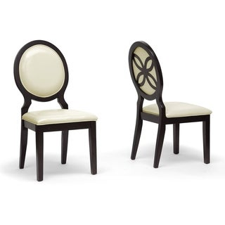 Baxton Studio Vandegriff Brown and Ivory Modern Dining Chair (Set of 2)