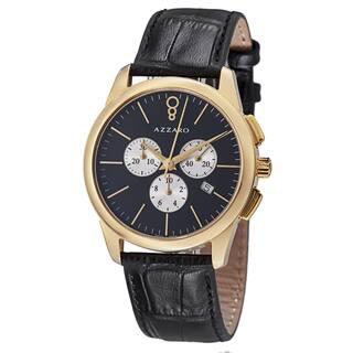 Azzaro Men's AZ2040.63BB.000 'Legend' Black Dial Black Strap Chronograph Quartz Watch|https://ak1.ostkcdn.com/images/products/8642582/Azzaro-Mens-AZ2040.63BB.000-Legend-Black-Dial-Black-Strap-Chronograph-Quartz-Watch-P15904768.jpg?impolicy=medium
