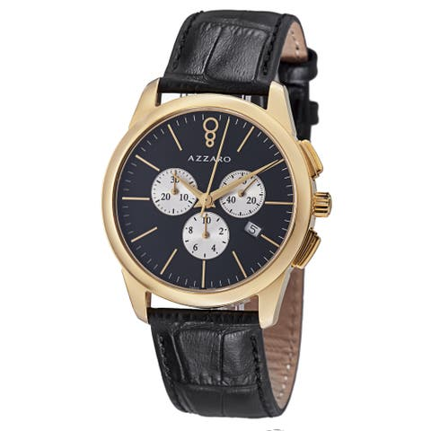 Azzaro Men's AZ2040.63BB.000 'Legend' Black Dial Black Strap Chronograph Quartz Watch