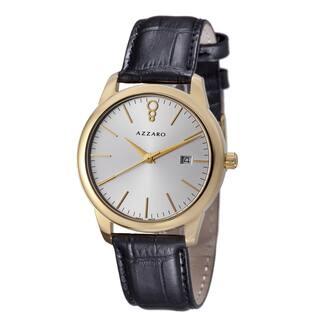 Azzaro Men's AZ2040.62SB.000 'Legend' Silver Dial Black Leather Strap Goldtone Watch|https://ak1.ostkcdn.com/images/products/8642583/Azzaro-Mens-AZ2040.62SB.000-Legend-Silver-Dial-Black-Leather-Strap-Goldtone-Watch-P15904769.jpg?impolicy=medium