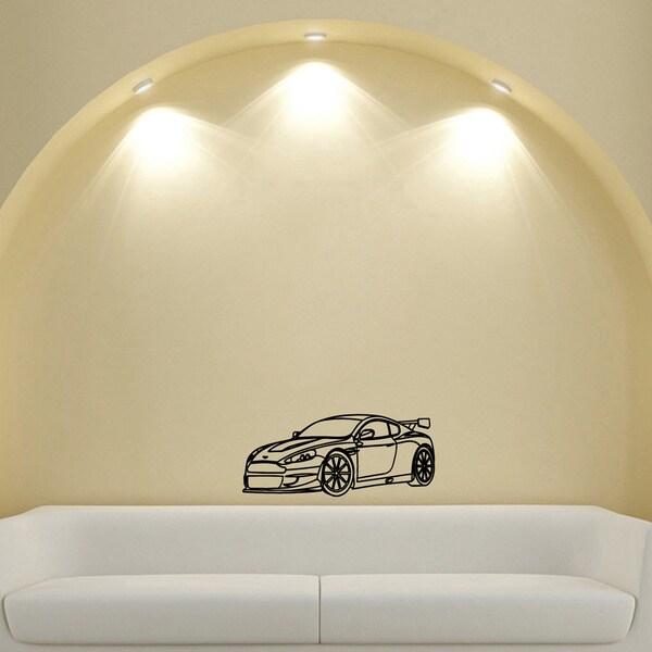 machine speed spoiler design vinyl wall art decal - free shipping on