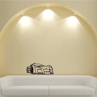 Sports Car Headlights Design Vinyl Wall Art Decal
