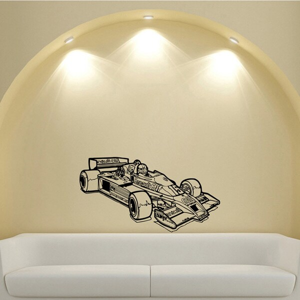 Formula 1 Renault Old FIA Car Racing Design Vinyl Wall Art Decal