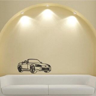 Honda s2000 Convertible Coupe Wheels Design Vinyl Wall Art Decal