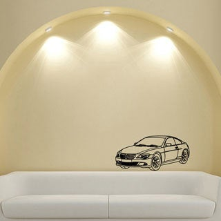 35-inch Black BMW Vinyl Wall Decal