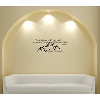 Mountain John Denver Quote Vinyl Wall Decal