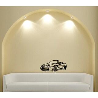 Alfa Romeo Convertible Vinyl Wall Decal