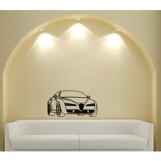 Alfa Romeo Car Style Design Vinyl Wall Art Decal