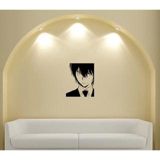 Japanese Manga Guy Shirt Tie Vinyl Wall Art Decal