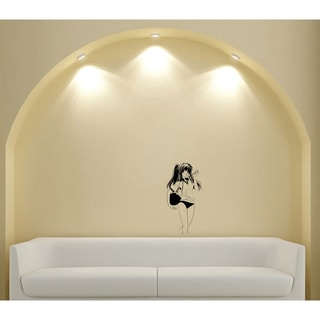 Japanese Manga Ball Girl Vinyl Wall Art Decal