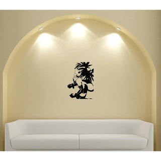 Japanese Manga Girl Doesn Hairstyle Vinyl Wall Art Decal
