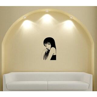 Japanese Manga Beautiful Fashionable Girl Vinyl Wall Art Decal