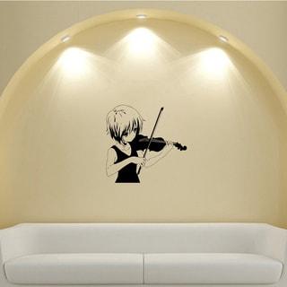 Japanese Manga Girl Music Violin Vinyl Wall Art Decal