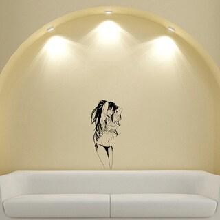 Japanese Manga Girl Shirt Babe Vinyl Wall Art Decal