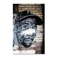 Yale Gurney 'Hiphop Yankee Fan Pop Art' Canvas Art - Multi