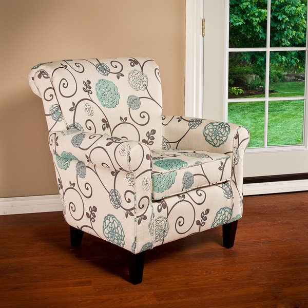 Roseville Fabric Floral Club Chair By Christopher Knight Home Free Shipping Today Overstock