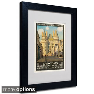 Anonymous 'Les Chateaux de la Langeais' Framed Matted Art