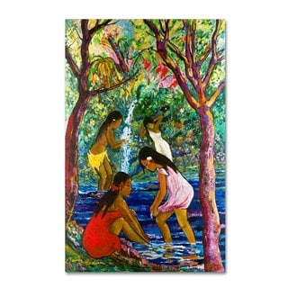 Manor Shadian 'Four Girls In Maui' Canvas Art