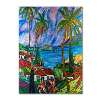 Manor Shadian 'Tropical Paradise' Canvas Art