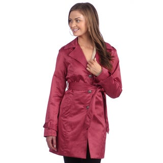 Live a Little Women's Single Bleasted Trench
