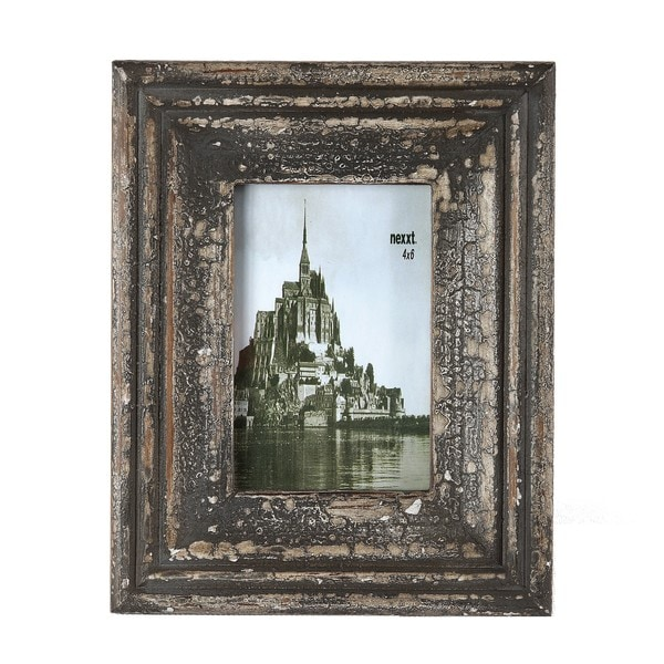 d2a188531a8b Shop Privilege 4x6-inch Vintage Wood Photo Frame - Free Shipping On Orders  Over  45 - Overstock - 8643056