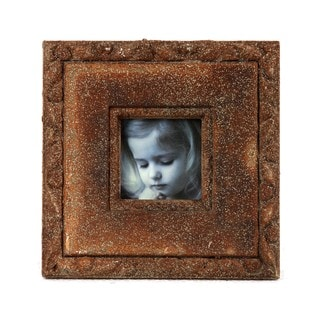 Privilege 9x9-inch Brown Ceramic Photo Frame