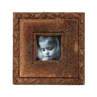 Privilege 9x9-inch Brown Ceramic Photo Frame