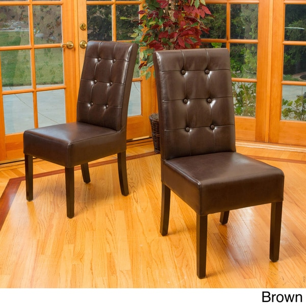 Christopher Knight Home Jace Button Tufted Leather Dining Chair (Set Of 2) Part 62