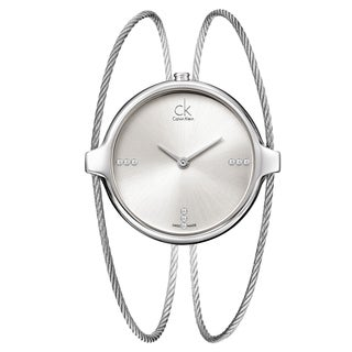 Calvin Klein Women's 'Agile' Stainless Steel Swiss Quartz Watch with Silvertone Dial
